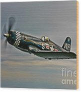 A Vought F4u-4 Corsair In Korean War Wood Print