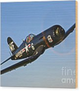 A Vought F4u-5n Corsair Aircraft Wood Print