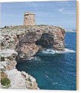 Xviii Defensive Tower In Alcafar Minorca - A Walk About Cliffs Wood Print