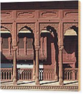 A Walk Among The Arches.. Wood Print