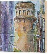 A Walk Around Galata Tower - Istanbul Wood Print