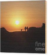 A Walk At Sunset Wood Print