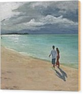 A Walk At Tumon Bay Guam Wood Print