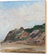 A Walk Down Cahoon Hollow Beach Wood Print