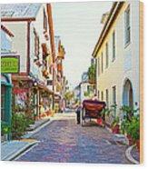 A Walk In St Augustine Wood Print