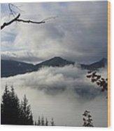 A Walk In The Clouds Wood Print