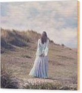 A Walk In The Dunes Wood Print by Joana Kruse