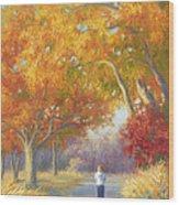 A Walk In The Fall Wood Print