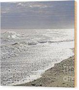 A Walk On The Beach Wood Print
