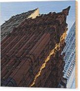 A Warm Slice Of Sunshine - Manhattan's Potter Building At Sunrise Wood Print