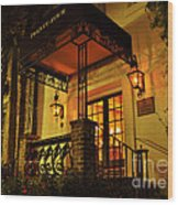 A Warm Summer Night In Charleston Wood Print