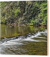 A Waterfalls Beginning Wood Print
