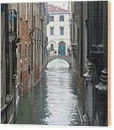 A Waterway Of Venice  Wood Print