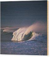 A Wave Breaks At Ziolkouski Beach Wood Print