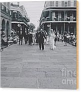 A Wedding In Jackson Square Wood Print
