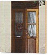 A Welcoming Door Wood Print
