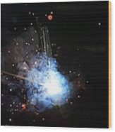 A Welder's Universe Wood Print