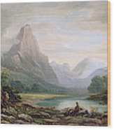 A Welsh Valley, 1819 Wood Print