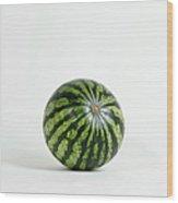 A Whole Ripe Watermelon, Studio Shot Wood Print
