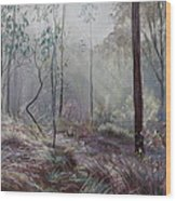 A Wickham Misty Morning Wood Print
