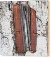 A Window No More Wood Print