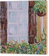A Window View Wood Print