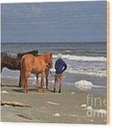 A Windy Day At Hunting Island Beach Wood Print