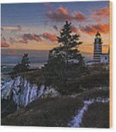 A Winter Dusk At West Quoddy Wood Print