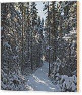 A Winter Poem.. Wood Print