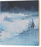 A Winter Scene Wood Print