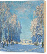 A Winter's Day Wood Print