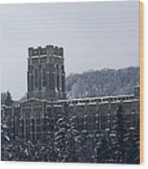 A Wintery View Of The Cadet Chapel At The United States Military Academy Wood Print