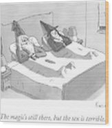 A Wizard And A Witch Lay In Bed Together Wood Print