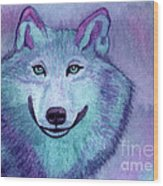 A Wolf Of A Different Color Wood Print by Vikki Wicks