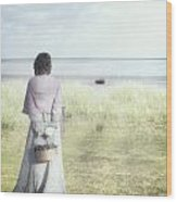 A Woman And The Sea Wood Print