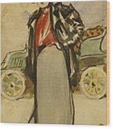 A Woman Driver Wood Print