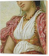 A Woman From Algiers Wood Print