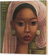 A Woman From Bali Wood Print