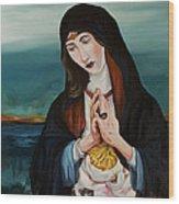 A Woman In Prayer Wood Print by Joseph Demaree