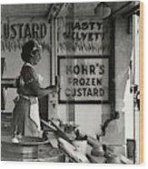 A Woman Selling Custard Wood Print
