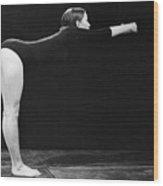 A Woman Stretching Wood Print