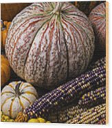 A Wonderful Autumn Harvest Wood Print