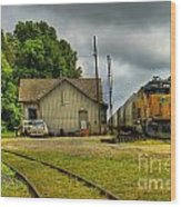 A Workhorse At The Madison Station Wood Print