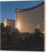 A Wynn And Encore Sunset Wood Print