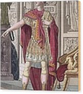A Young Emperor In His Imperial Armour Wood Print