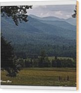 A Young Family Visits The  Great  Smoky Mountains Wood Print