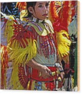 A Young Warrior Wood Print
