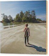 A Young Woman Walks Towards Frank Wood Print