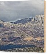A1 Highway Croatia Velebit Mountain Road Wood Print