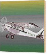A1a Husky Aviat Airplane Wood Print